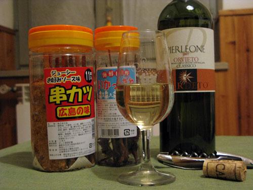 ワインと串カツ