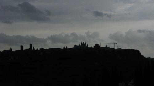 オルヴィエートの夜景