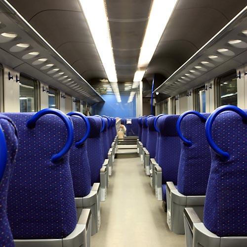 イタリア国鉄車内