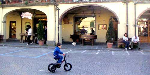 イタリアの自転車少年